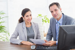 Business partners working together Stock Photo