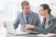 Business partners working together Stock Images