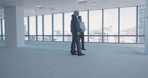 Business partners working together in office stock footage