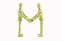 Business partnership agreement handshake Stock Image