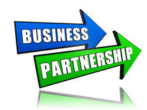 Business partnership in arrows Stock Photos