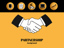 Business partnership background Stock Photography