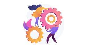 Collaboration 4K loop animation