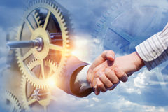 Business partnership and cooperation . Royalty Free Stock Image