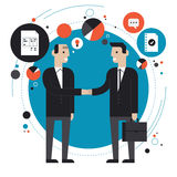 Business partnership flat illustration Stock Images