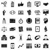 Business partnership icons set, simple style. Business partnership icons set. Simple set of 36 business partnership vector icons for web isolated on white Royalty Free Stock Photography