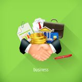 Business and partnership illustration Stock Photography