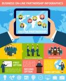 Business partnership infographics Stock Photos