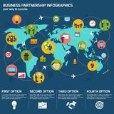 Business partnership infographics Royalty Free Stock Photography