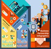 Business Partnership Infographics Royalty Free Stock Photos