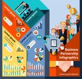 Business Partnership Infographics Royalty Free Stock Photos