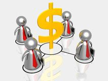 Business partnership making money Royalty Free Stock Image