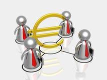 Business partnership making money Royalty Free Stock Photos