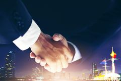 Business partnership meeting concept and business handshake for Stock Photography