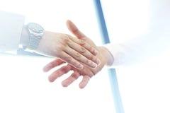 Business partnership meeting concept. Image businessman handshake.Blurred,sunlights Royalty Free Stock Photo