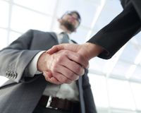 Business partnership meeting concept. Image businessmans handsha Royalty Free Stock Images
