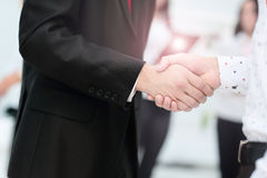 Business partnership meeting concept. Image businessmans handshake. Successful businessmen handshaking after good deal Stock Photos