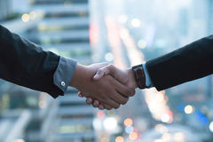 Business partnership meeting concept. Image businessmans handshake stock photography