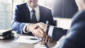 Business partnership meeting in office stock photos