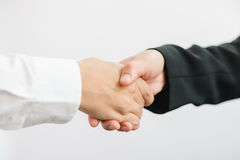 Business partnership meeting. Picture businessmans handshake. Successful businessmen handshaking after good deal. Royalty Free Stock Images