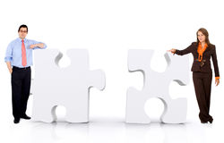 Business partnership - puzzle Royalty Free Stock Images
