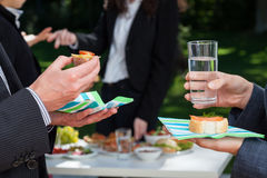 Business party in the garden Stock Photography