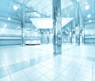 Business passage in airport Royalty Free Stock Photo