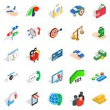 Business pay icons set, isometric style Stock Images