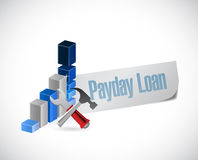 Business payday loan illustration design. Over a white background Royalty Free Stock Photo