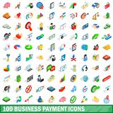 100 business payment icons set, isometric 3d style. 100 business payment icons set in isometric 3d style for any design illustration vector illustration