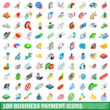 100 business payment icons set, isometric 3d style Stock Image