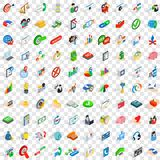 100 business payment icons set, isometric 3d style. 100 business payment icons set in isometric 3d style for any design vector illustration Stock Illustration