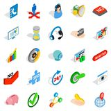Business payment icons set, isometric style. Business payment icons set. Isometric set of 25 business payment vector icons for web isolated on white background Royalty Free Stock Images