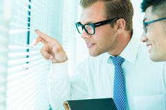 Business peeping Stock Photos