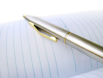 Business Pen On A Note-Book Stock Photography