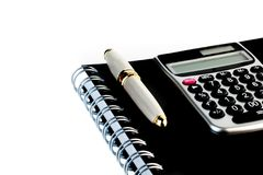 Business pen on notepad Stock Photo