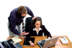 Business People 10. Businessman and businesswoman conducting an executive business meeting Stock Photography