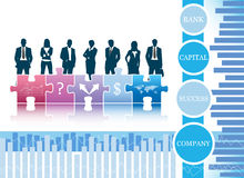 Business people. Vector illustration of business people on the graph Royalty Free Stock Photo