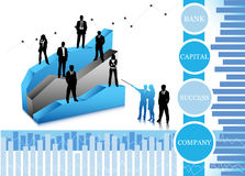Business people. Vector illustration of business people ... world biz Royalty Free Stock Image