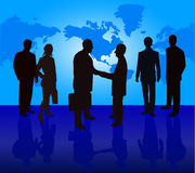 Business People. Illustration silhouettes background Royalty Free Stock Image