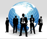 Business people. And globe of the world Stock Images