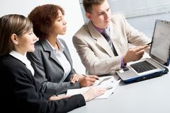 Business people. Discussing in a meeting Royalty Free Stock Image