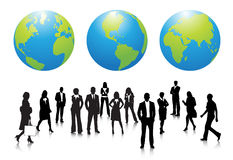 Business people. Illustration of business team with globe.Very useful business concept Stock Photo