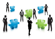 Business people. Illustration of business team with puzzle.Very useful business concept Stock Image