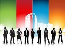 Business people. Illustration of business team in city.Very useful business concept Stock Photos