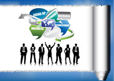 Business people. Illustration of business team.Very useful business concept Royalty Free Stock Images