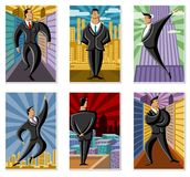 Business people. Conceptual business illustration of office people over chart Royalty Free Stock Images