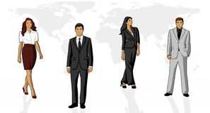 Business people. Conceptual business illustration of office people Stock Photography