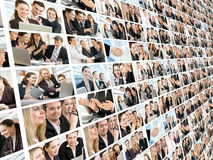 Business people. Team of successful smiling young business people stock photo