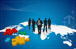 Business People. Vector composition suited for business, editable elements Stock Images